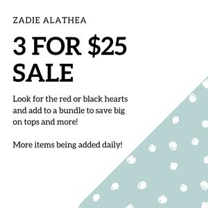 Tops - ❤3 FOR$25❤ SALE!